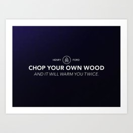 Henry Ford Quote Art Print