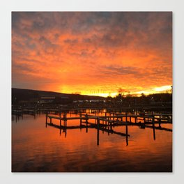 Seneca Harbor Sunrise Canvas Print