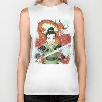mulan Biker Tanks featuring Mulan by Aimee Steinberger