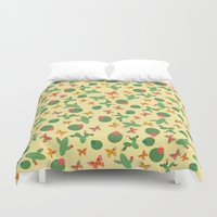 cactus Duvet Covers featuring Cactus by Kakel