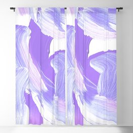 Shades of Purple Brush Stroke pattern #abstractart Blackout Curtain