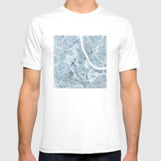 Map Nashville Tennessee Blueprint City Map White MEDIUM Mens Fitted Tee