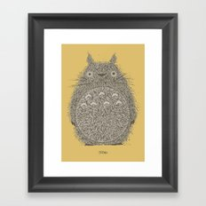 Yellow Totoro Framed Art Print