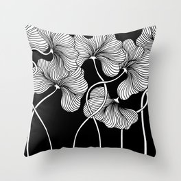 Flowers for Japan Throw Pillow