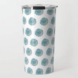 happy blue watercolor flowers Travel Mug