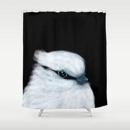 White Bird Black Background #decor #society6 #buyart Shower Curtain