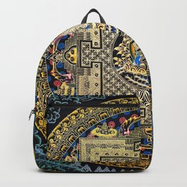 Aqua Amoghasiddhi Buddhist Medicine Mandala Backpack
