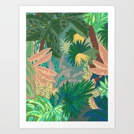 Jungle Garden Art Print