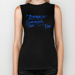 Continue Living Scribbled Insprational Quote Biker Tank