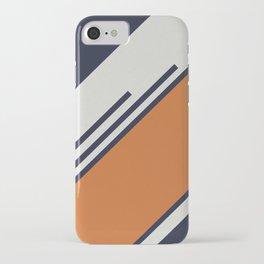 Retro Stripes in Blue Orange iPhone Case