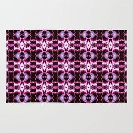 Purple White Flower Pattern Rug