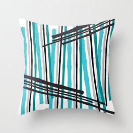 Jib Street Abstract Bamboo Throw Pillow