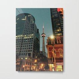 CN Tower Night Time Metal Print