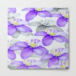 Spring Forest Blue Flowers #decor #society6 #buyart Metal Print