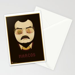 Narcos Alternative Movie Poster Stationery Cards