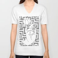 spiritual V-neck T-shirts featuring spiritual power by smurfmonster