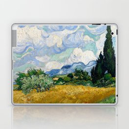 Wheat Field with Cypresses Laptop & iPad Skin