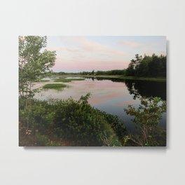 Pennamaquan River at Sunset Metal Print