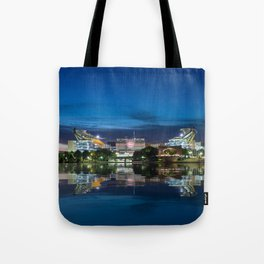Heinz Field at night - Pittsburgh NFL stadium Tote Bag