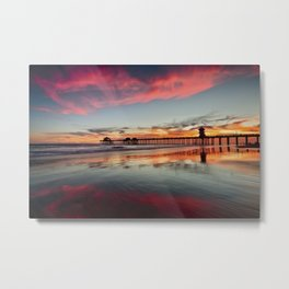 Huntington Beach Sunsets  8/5/15  Metal Print