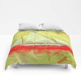 Abstract-ship Comforters
