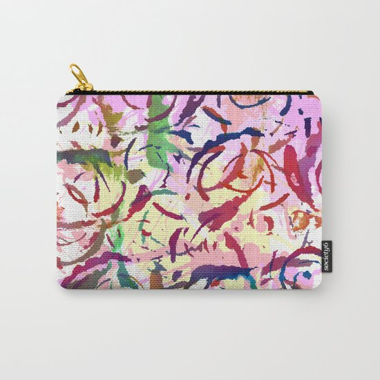 abstract roses silhouettes Carry-All Pouch
