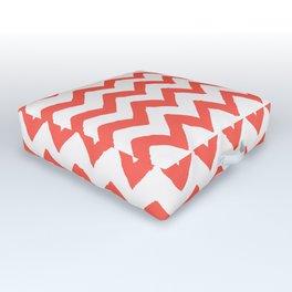 Chevron Living Coral Outdoor Floor Cushion