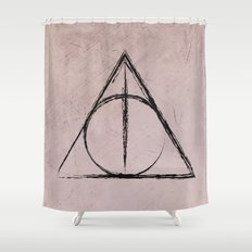 Deathly Hallows (Harry Potter) Shower Curtain