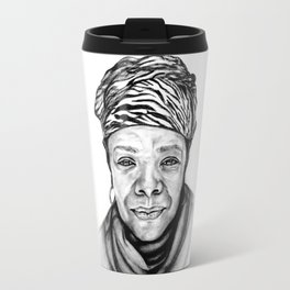 Maya Angelou - BW Original Sketch Travel Mug