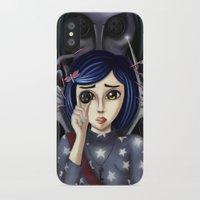 coraline iPhone & iPod Cases featuring Coraline and the secret door by Artik
