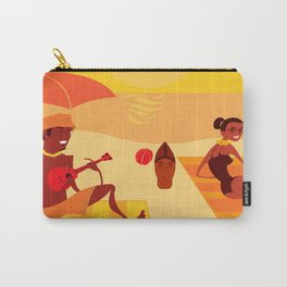 Bossa Red and Green Carry-All Pouch
