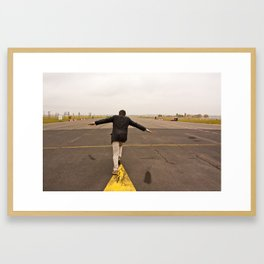 Tempelhof Flying Framed Art Print