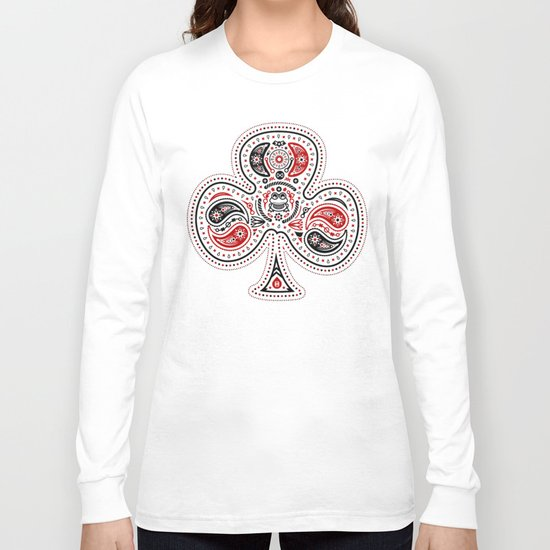 83 Drops - Clubs (Red & Black) Long Sleeve T-shirt