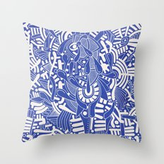 - captain lost in blue - Throw Pillow
