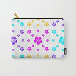 Colorful Periwinkles Pattern Carry-All Pouch