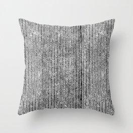 Stockinette Black Throw Pillow