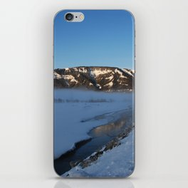 Winter morning at Yellowstone National Park iPhone Skin
