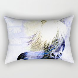 447 Abstract Periwinkle Horse Rectangular Pillow