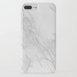 Marble Love Silver Metallic iPhone Case