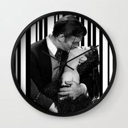 Kiss inside a Barcode Wall Clock