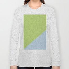 Soft Blue & Soft Green - oblique Long Sleeve T-shirt