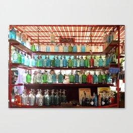 Antique Soda Bottles, San Telmo, Buenos Aires Canvas Print