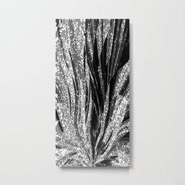 Crystal Floral Black Metal Print