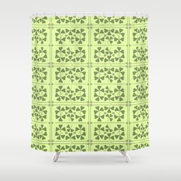 Shamrocks & Trinity Knots Shower Curtain