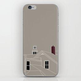 Cityscape Urban Illustration in Warm Grey iPhone Skin