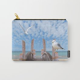 Dock on Beach with Seagulls A340 Carry-All Pouch
