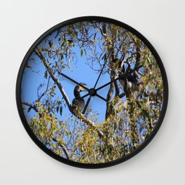 Parrot with black eyes Wall Clock