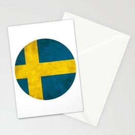 Sweden flag, circle Stationery Cards