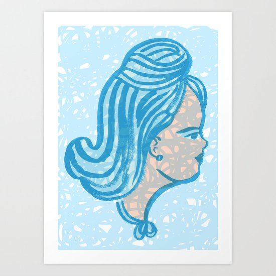 Blue Lady Art Print