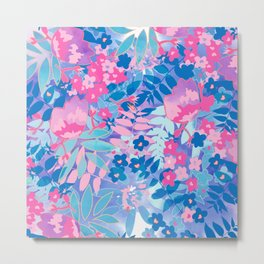 Pastel Watercolor Flowers Metal Print